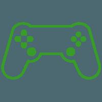icono control de videojuegos verde