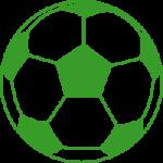 icono de pelota de futbol color verde